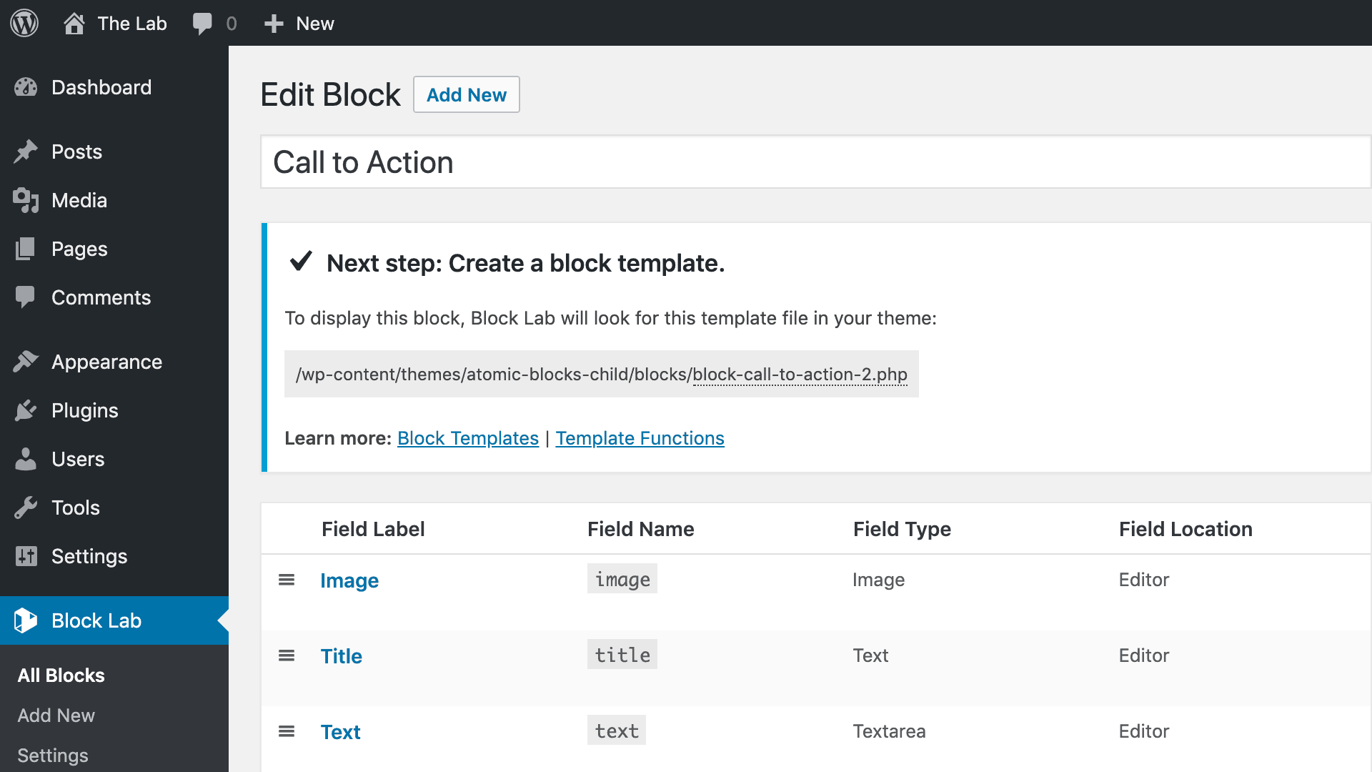 Block Lab - create custom WordPress Gutenberg blocks