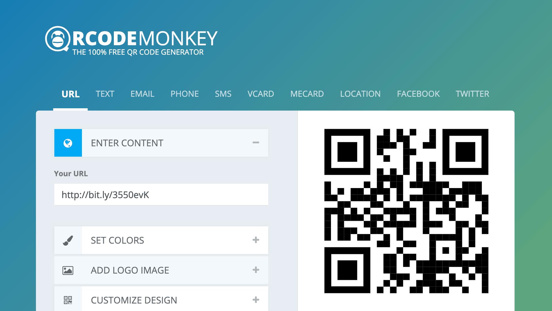 QRCode Monkey - online QR Code generator