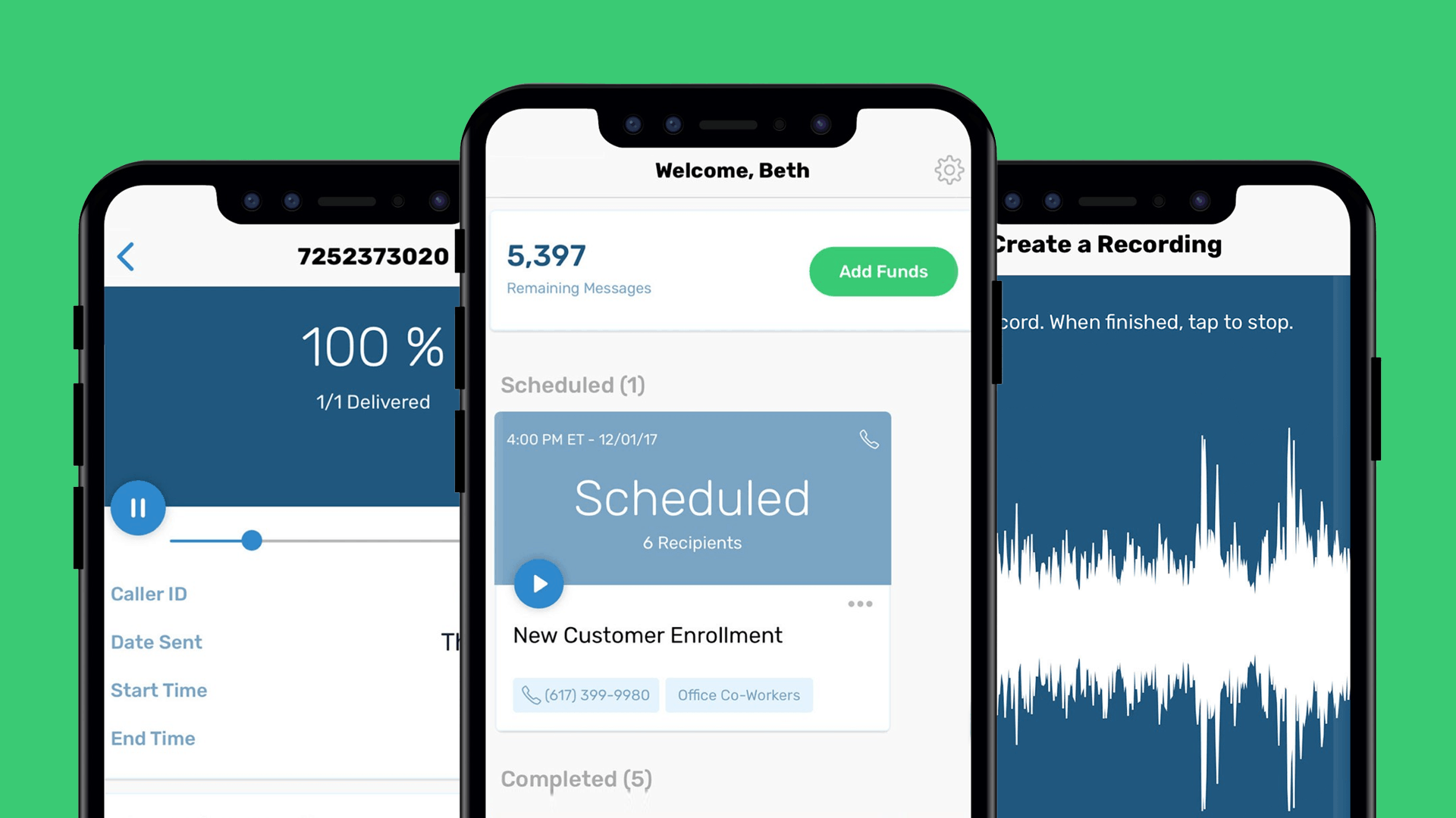 Slybroadcast - schedule, check delivery, and record ringless voicemails